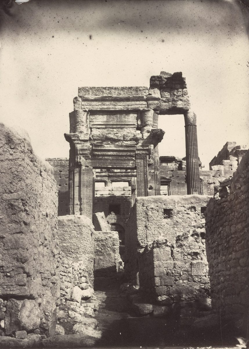 Cella Entrance to the  Temple of Bel,  Albumen print by Louis Vignes in 1864. (The Getty Research Institute)