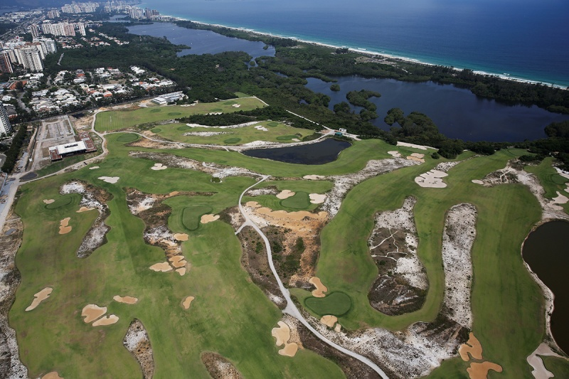 An aerial view shows the 2016 Rio Olympics golf venue which was used for the Rio 2016 Olympic Games, in Rio de Janeiro, Brazil, January 15, 2017. (Nacho Doce/Reuters)