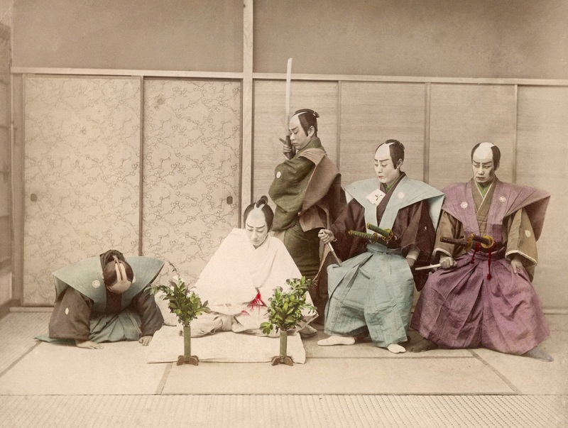 A staged version of the Japanese ritual suicide known as Seppuku or Hara-Kiri, circa 1885. (Sean Sexton/Getty Images)
