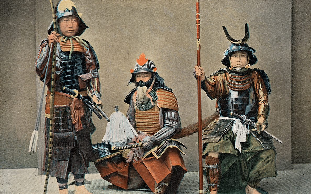 'A Group of Samurai', circa 1890. (The Print Collector/Print Collector/Getty Images)