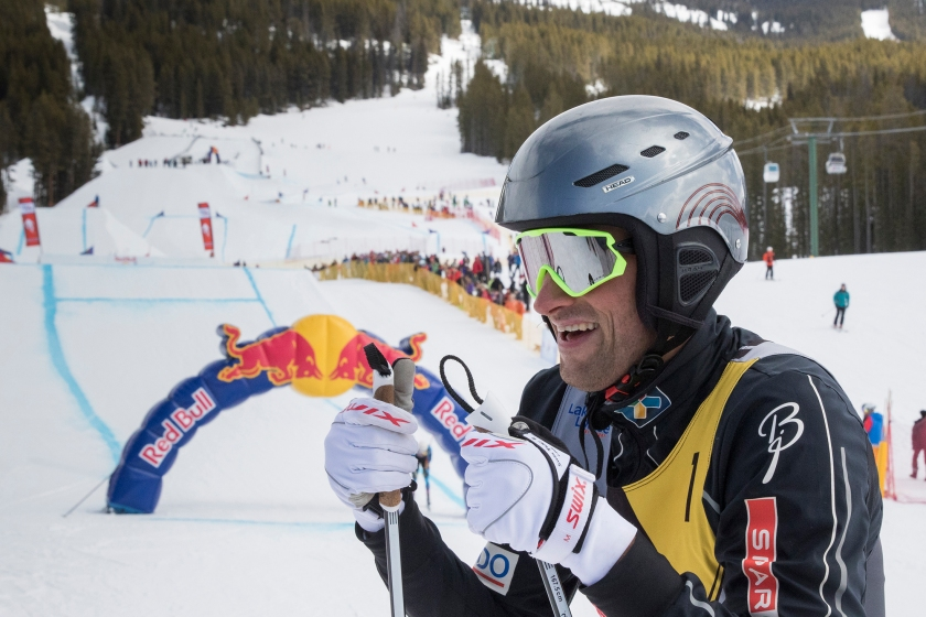 Petter Northug at the finish line of Red Bull NordiX in Lake Louise, Canada on March 13, 2016. (Dan Carr/Red Bull Content Pool)