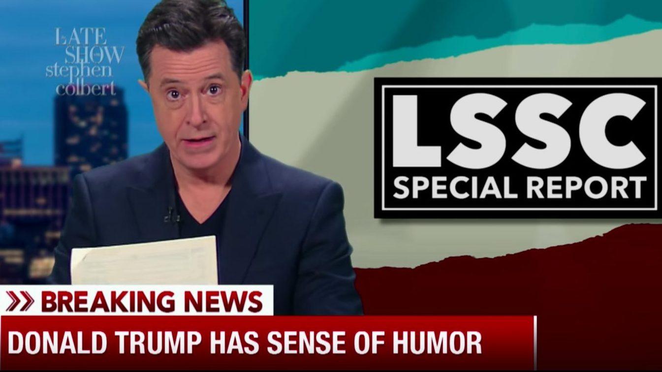 Stephen Colbert Skewers Rachel Maddow's Trump Tax Reveal