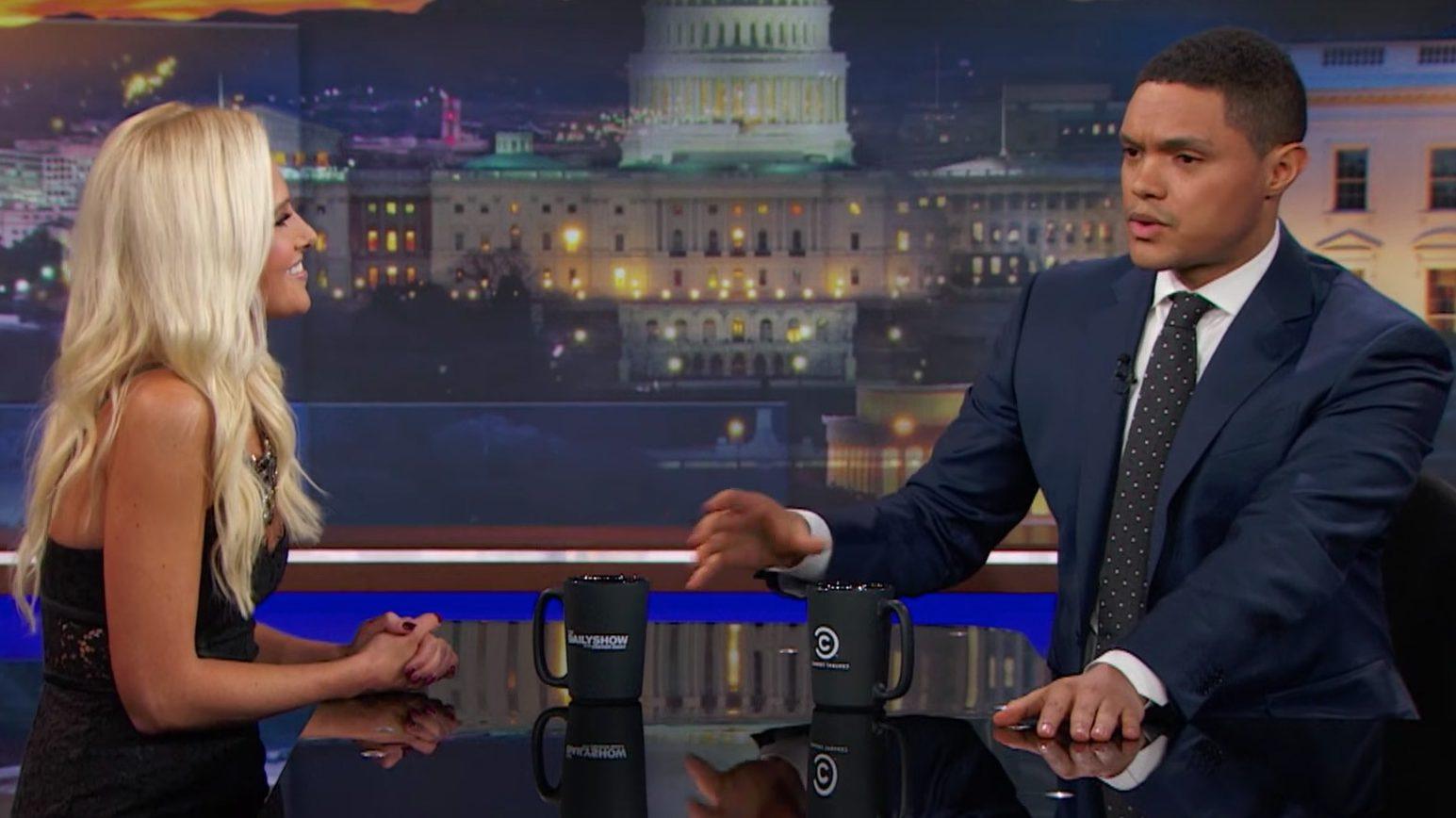 Trevor Noah Steps Up to Defend Suspended Conservative Pundit Tomi Lahren