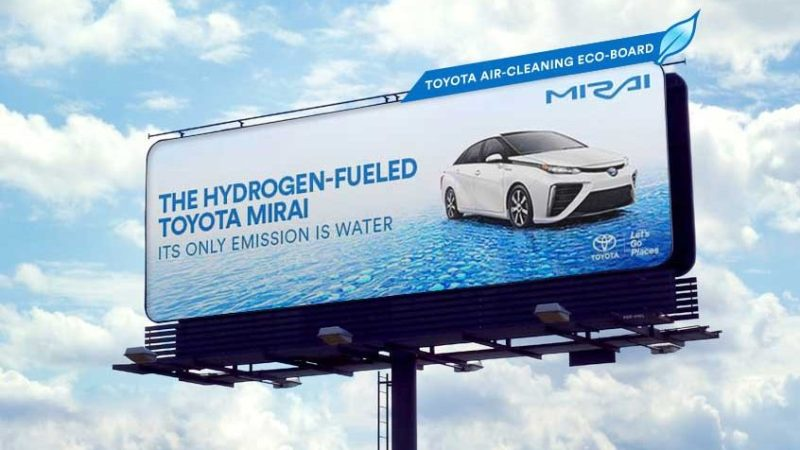 Toyota Billboard Actually Purifies the Air Surrounding It