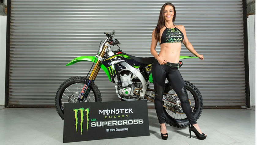 Monster Energy Girls Get Into Motorcycle Racing