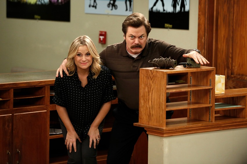 Amy Poehler and Nick Offerman in NBC's 'Parks and Recreation' (NBC)
