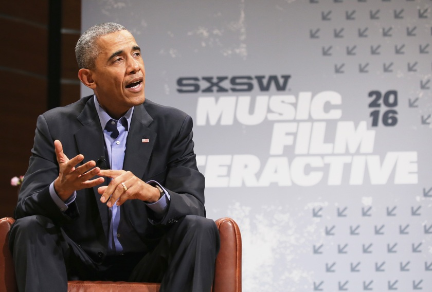President of the United States Barack Obama speaks during the 2016 SXSW Music, Film + Interactive Festival at Long Center on March 11, 2016 in Austin, Texas. (Neilson Barnard/Getty Images for SXSW)