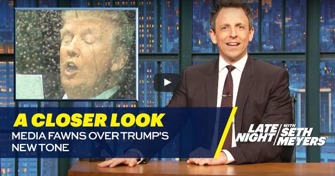 Seth Meyers Slams the Media's Reaction to President Trump's Address