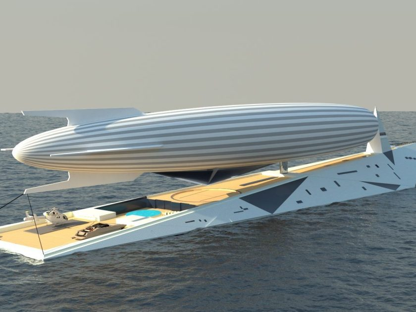 This Superyacht Doubles as a Zeppelin Terminal