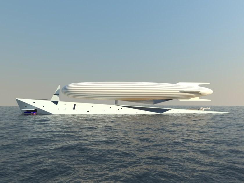 Superyacht Doubles as Zeppelin Terminal