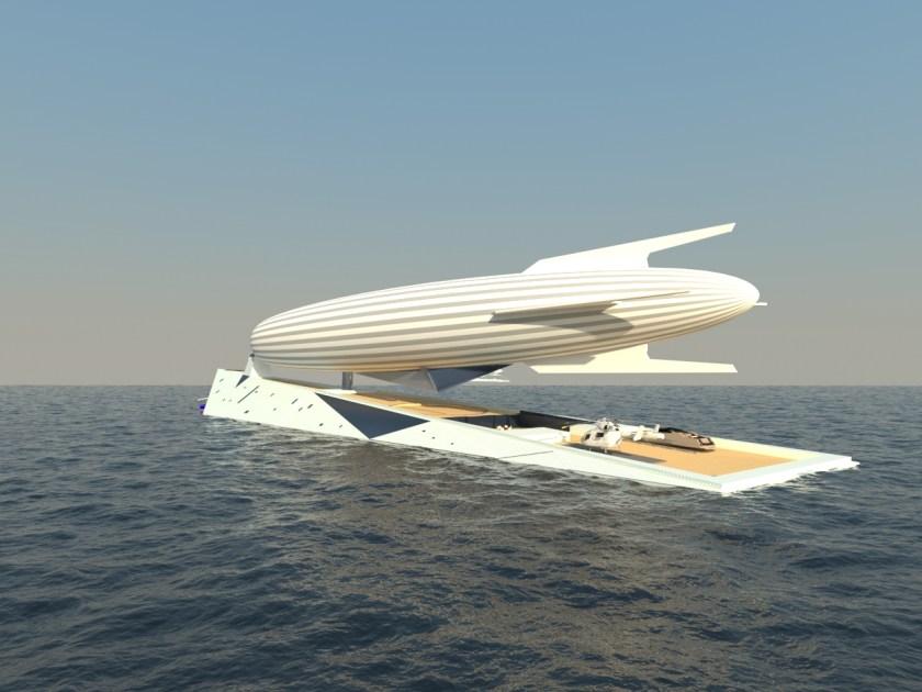 Superyacht Doubles as a Zeppelin Terminal