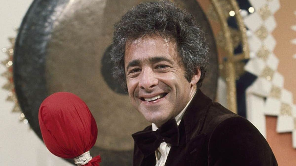 Host Chuck Barris during Season One of The Gong Show NBC