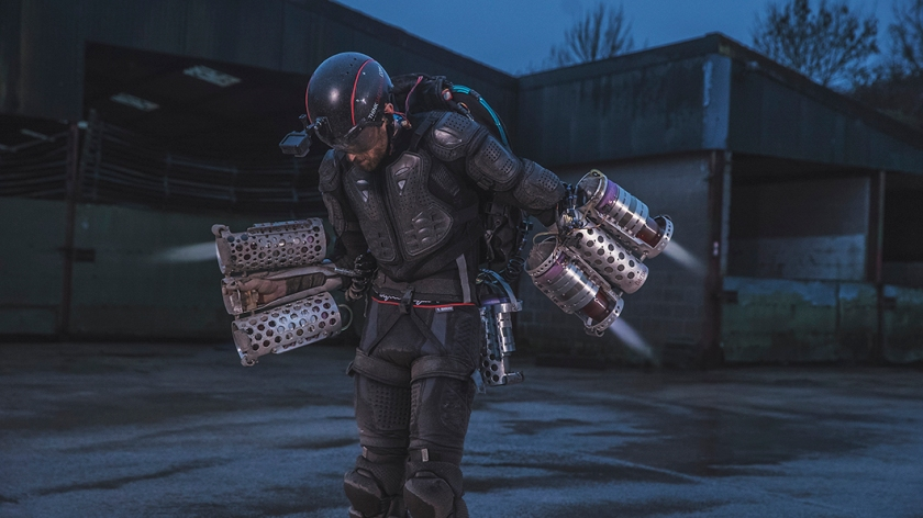 Launched on March 31st 2017, Gravity is a British technology start up that has invented, built, flown and filed a patent for a human propulsion technology that re-imagines manned flight. (Anthony Rubinstien / Red Bull Content Pool)