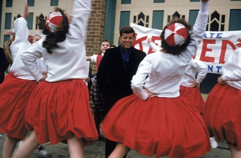 John F. Kennedy campaign photos