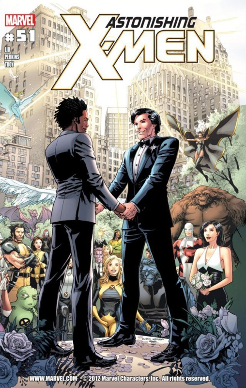 Northstar got married in a same sex wdding an issue (Marvel)