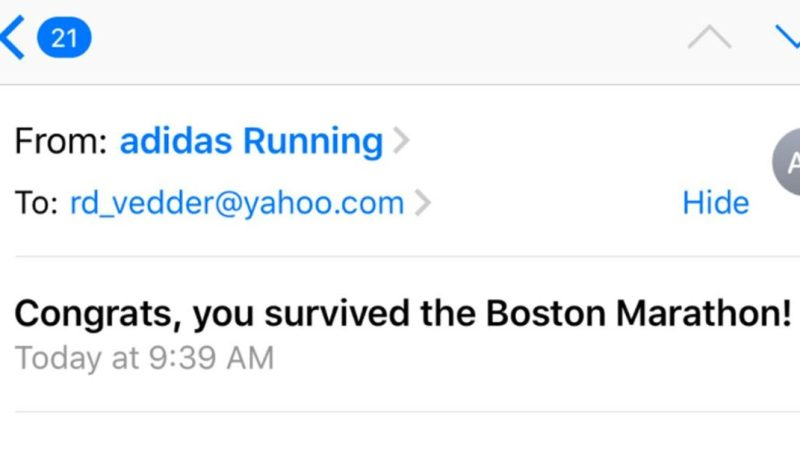 eda5f5997f0e Twitter user Joey Arceo uploaded a screenshot of the insensitive email from  Adidas earlier this week