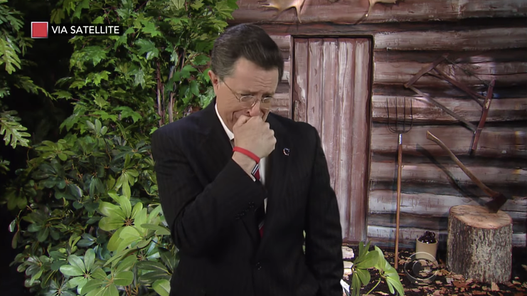 Stephen Colbert revives his alter-ego to bid farewell to Fox News' Bill O'Reilly.