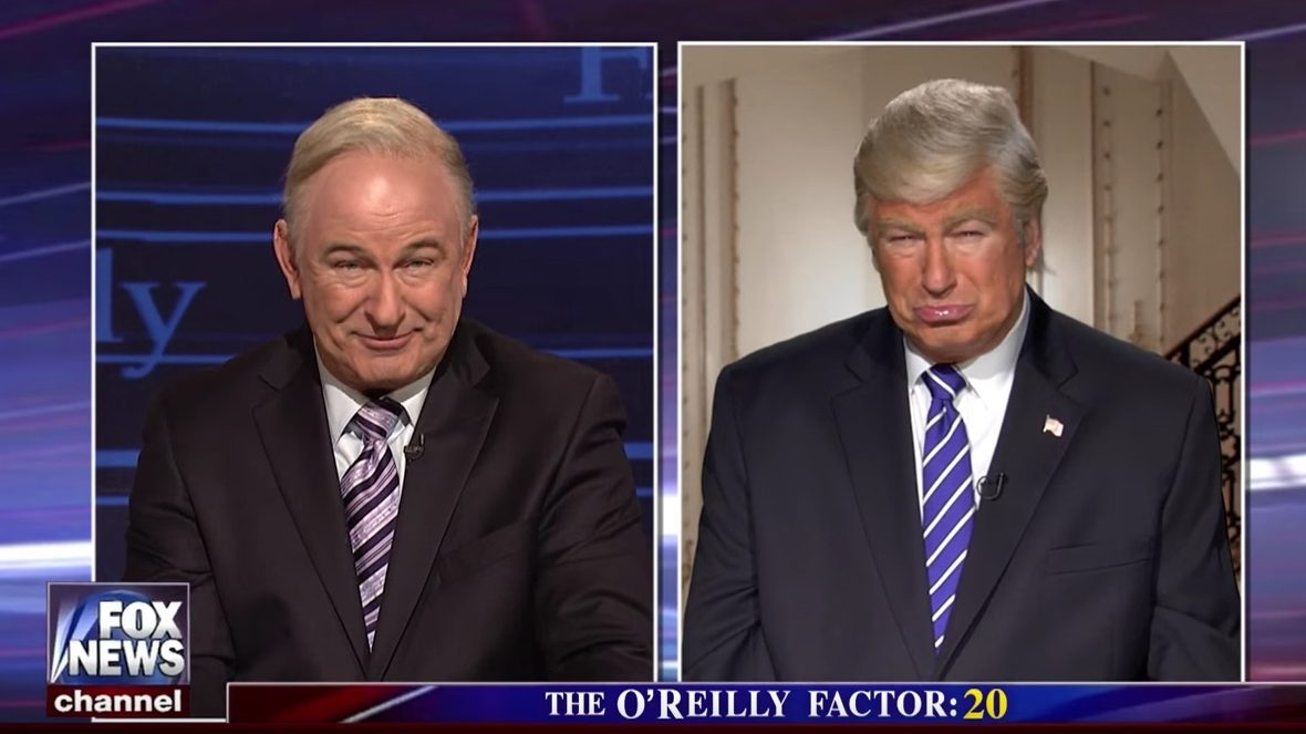Alec Baldwin Plays Fox News' Bill O'Reilly, President Trump at the Same Time on SNL