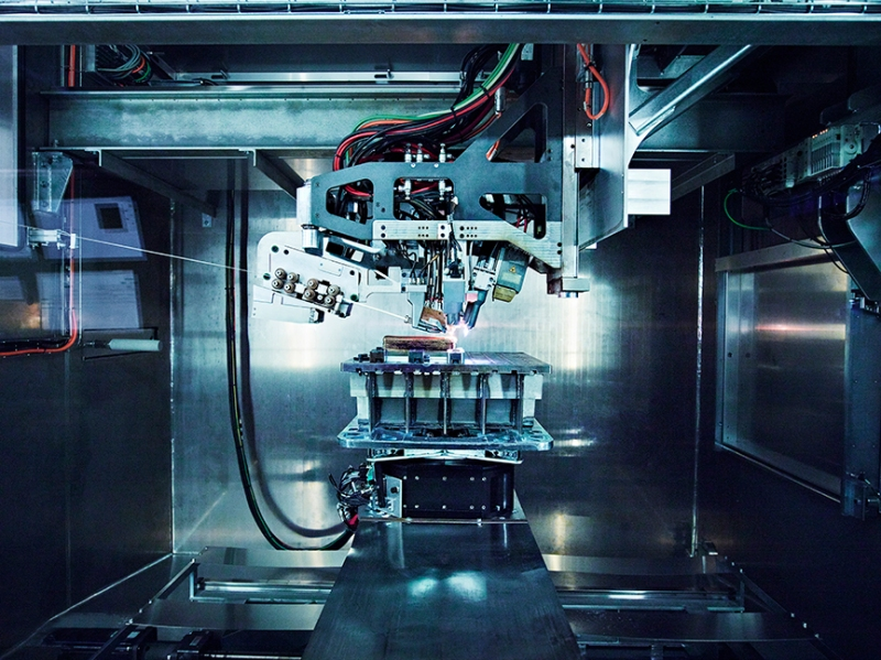 Norsk Titanium's Patented MERKE IV Rapid Plasma Deposition Machine Producing the World's First FAA-Approved, 3D-Printed, Structural Titanium Components for the Boeing 787 Dreamliner (Norsk Titanium AS)