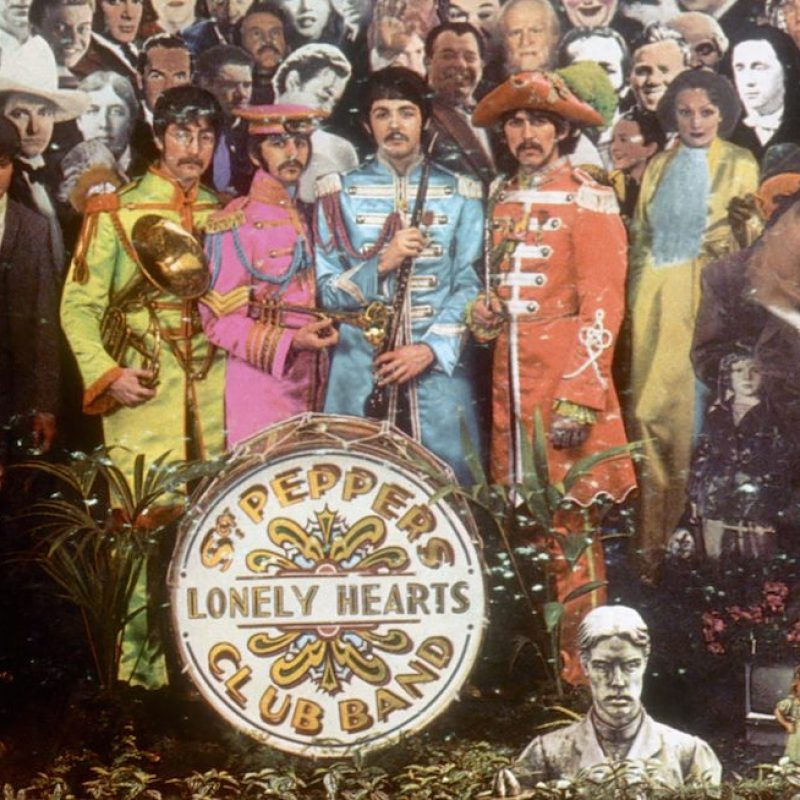 """JUNE 1: Album cover designed by art director Robert Fraser for rock and roll band """"The Beatles"""" album entitled """"Sgt. Pepper's Lonely Hearts Club Band"""" which was released on June 1, 1967. (Photo by Michael Ochs Archives/Getty Images)"""