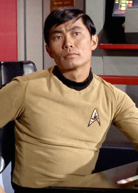 """LOS ANGELES - MARCH 29: George Takei as Hikaru Sulu in the STAR TREK: THE ORIGINAL SERIES episode, """"Assignment: Earth."""" Season 2, episode 26.  Original air date was March 29, 1968. Image is a screen grab. (Photo by CBS via Getty Images)"""