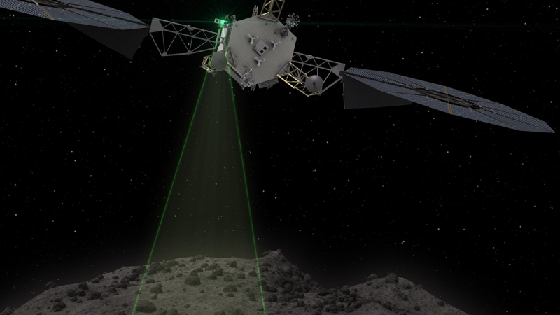 The Asteroid Redirect Vehicle conducts one of the 1 km fly-bys that are used to characterize and image the asteroid with a resolution of up to 1 cm.(NASA)
