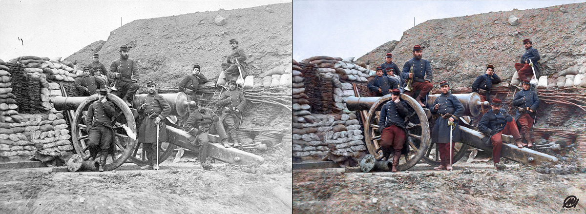 Historic photos in color