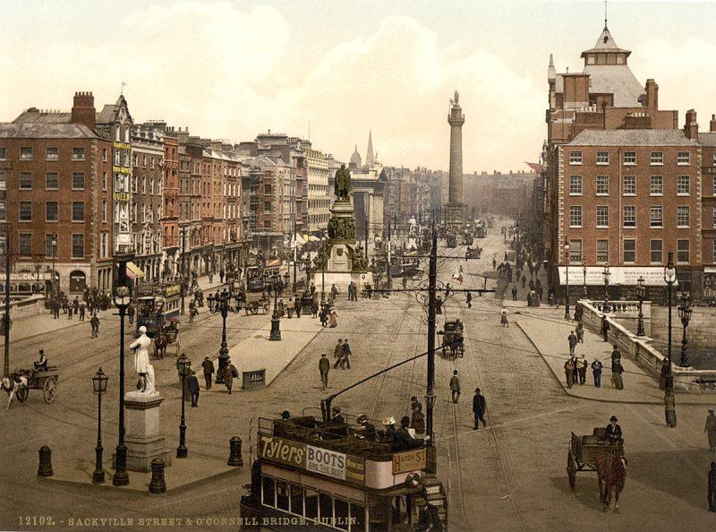 Sackville Street and O'Connell Bridge, Dublin. County Dublin, Ireland (Library of Congress)
