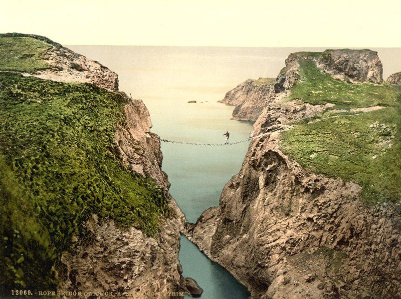 Rope Bridge, Carrick-a-Rede. County Antrim, Ireland (Library of Congress)