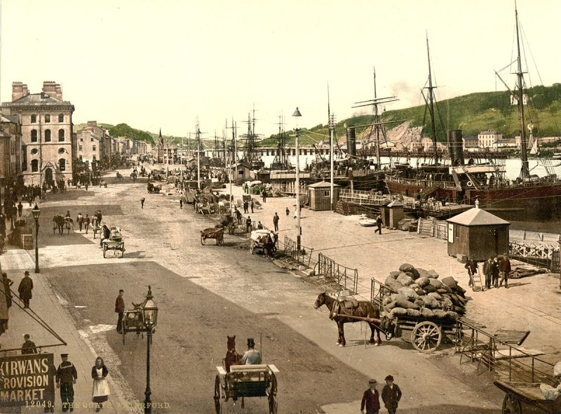 The Quays, Waterford. County Waterford, Ireland between ca. 1890 and ca. 1900 (Library of Congress)