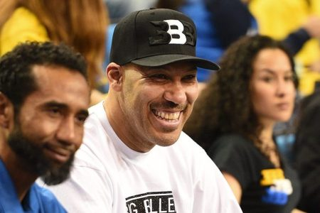 LaVar Ball looks on during a college basketball game. (Brian Rothmuller/Icon Sportswire via Getty)