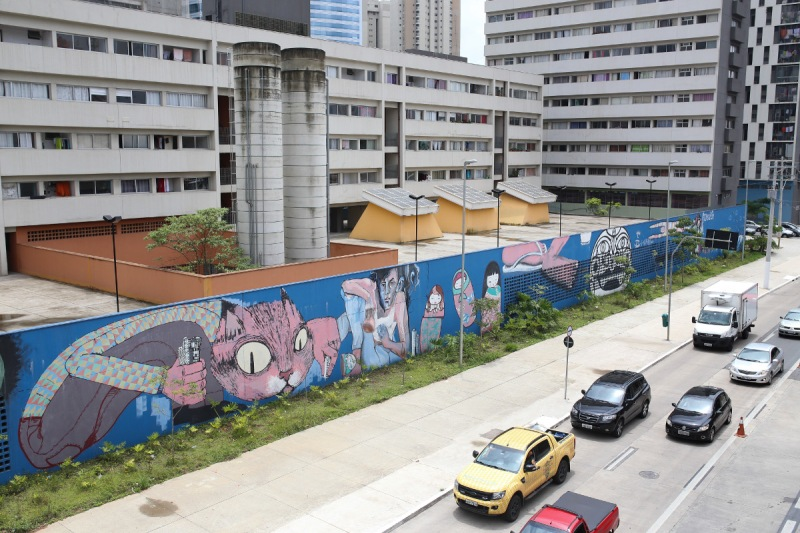 Graffiti is seen on the streets of Sao Paulo, Brazil (Patricia Monteiro/Bloomberg)