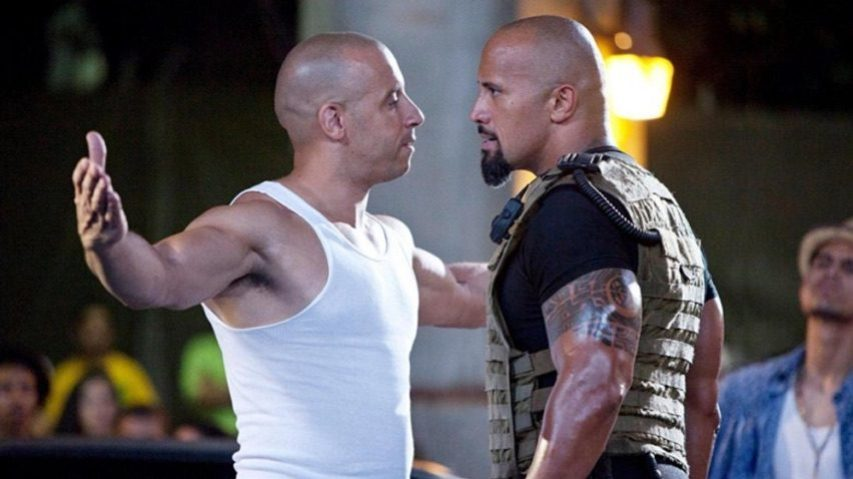 Vin Diesel (l.) and Dwayne (The Rock) Johnson have reportedly put their feud behind them for another ride on the 'Fast and Furious' franchise. (Universal)