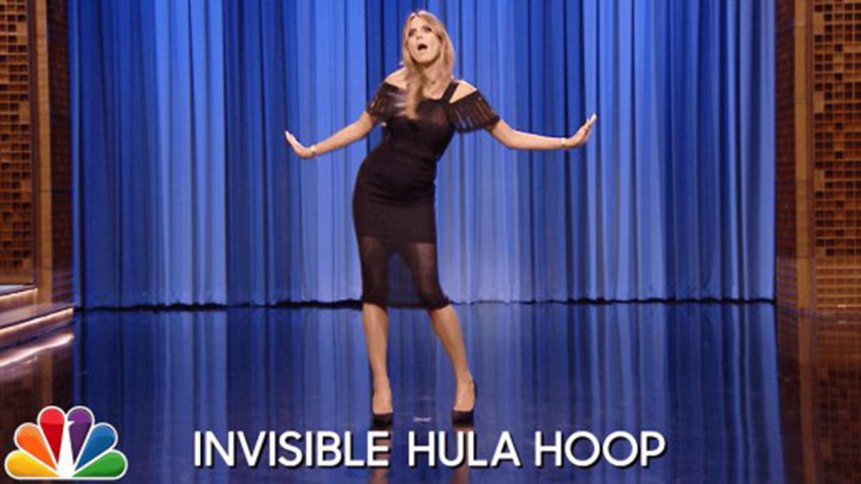 Heidi Klum dancing on the Tonight Show.