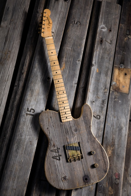 Fender Produces Guitar Out of Hollywood Bowl's Bench Wood