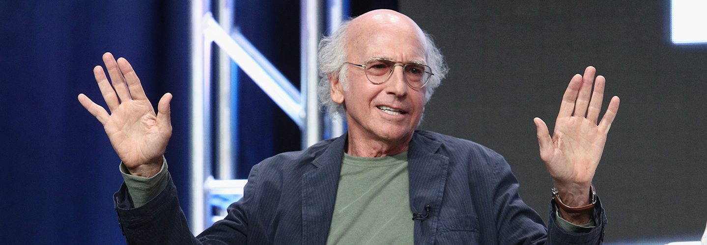 Creator/executive producer Larry David of 'Curb Your Enthusiasm' speaks onstage during the HBO portion of the 2017 Summer Television Critics Association Press Tour at The Beverly Hilton Hotel on July 26, 2017 in Beverly Hills, California.