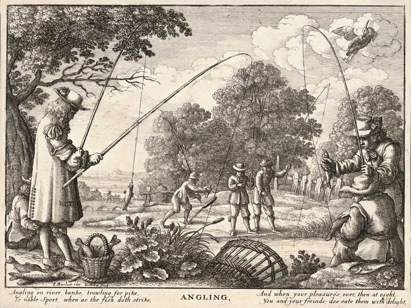 'Angling' was a popular past time in the 1600s and served as the inspiration for Walton's book. (Wikimedia Commons)