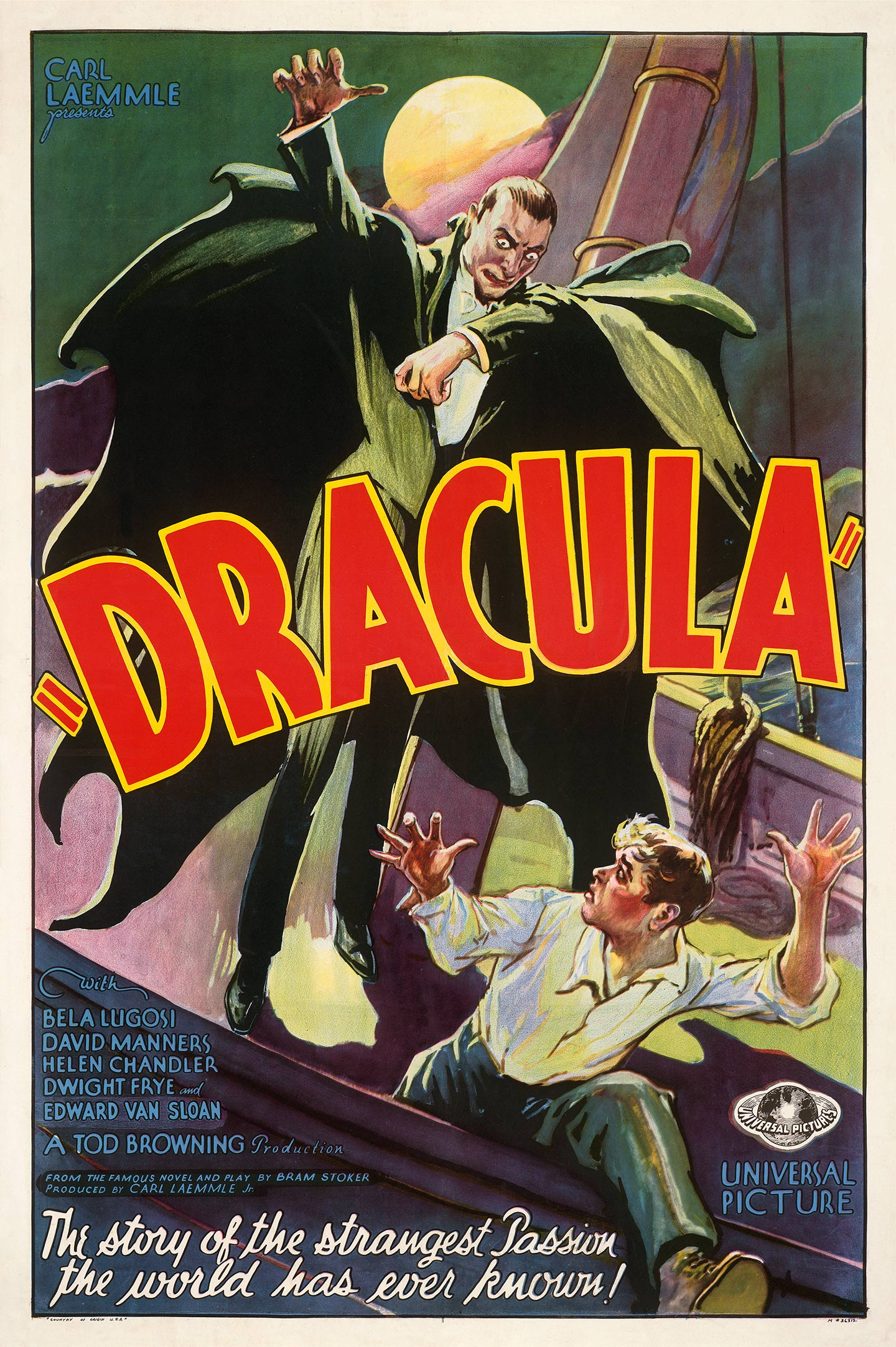Horror at the black museum vintage Movie poster print