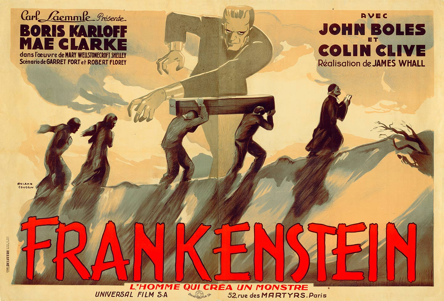 Classic Horror and Sci-Fi Art from the Kirk Hamme Collec on