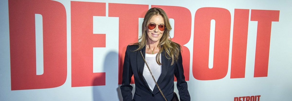 "DETROIT, MI - JULY 25: Director-Producer Kathryn Bigelow arrives at the premiere for ""Detroit"" at the Fox Theater on July 25, 2017 in Detroit, Michigan. (Photo by Aaron J. Thornton/Getty Images)"