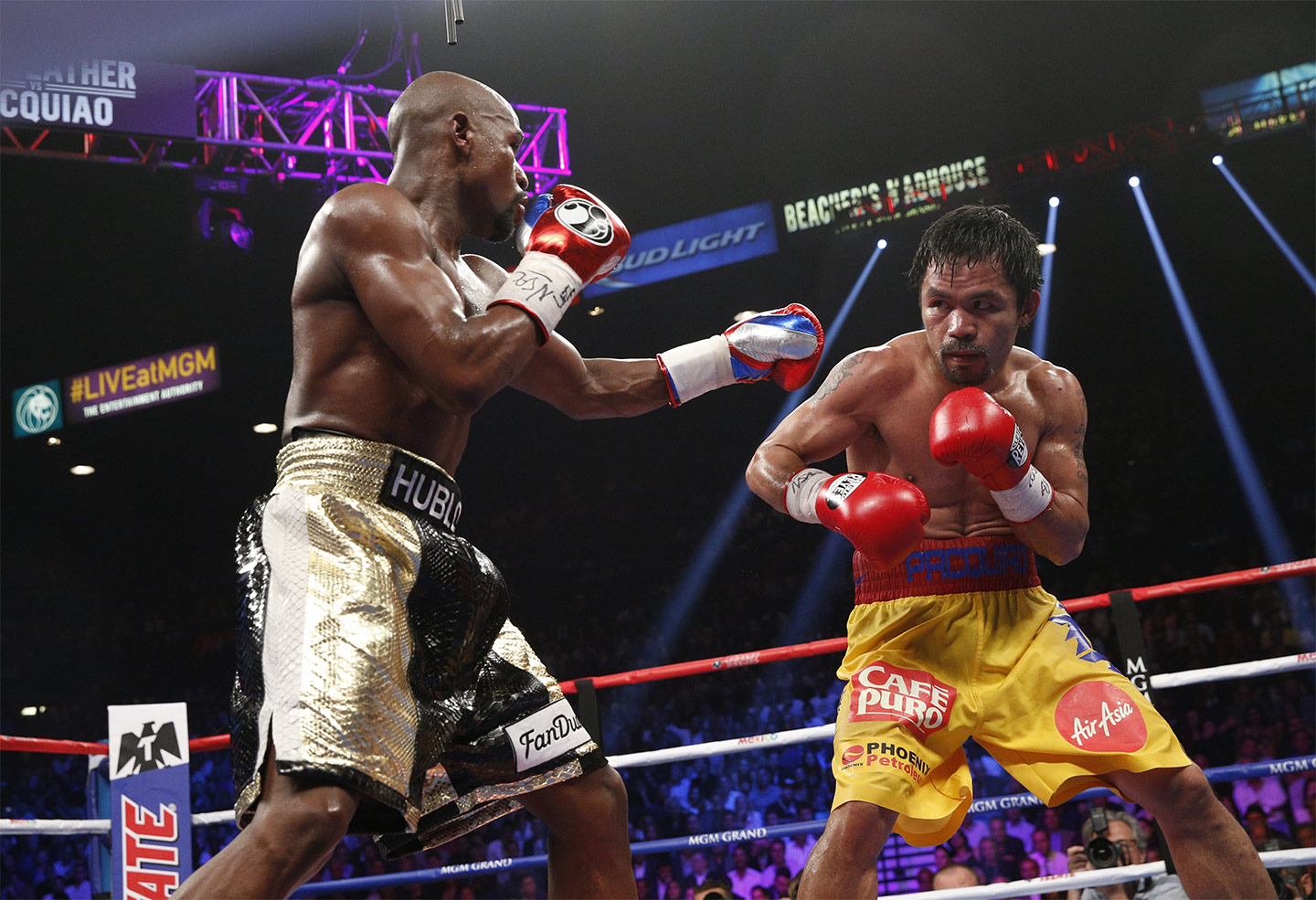 Floyd Mayweather Jr. and Manny Pacquiao