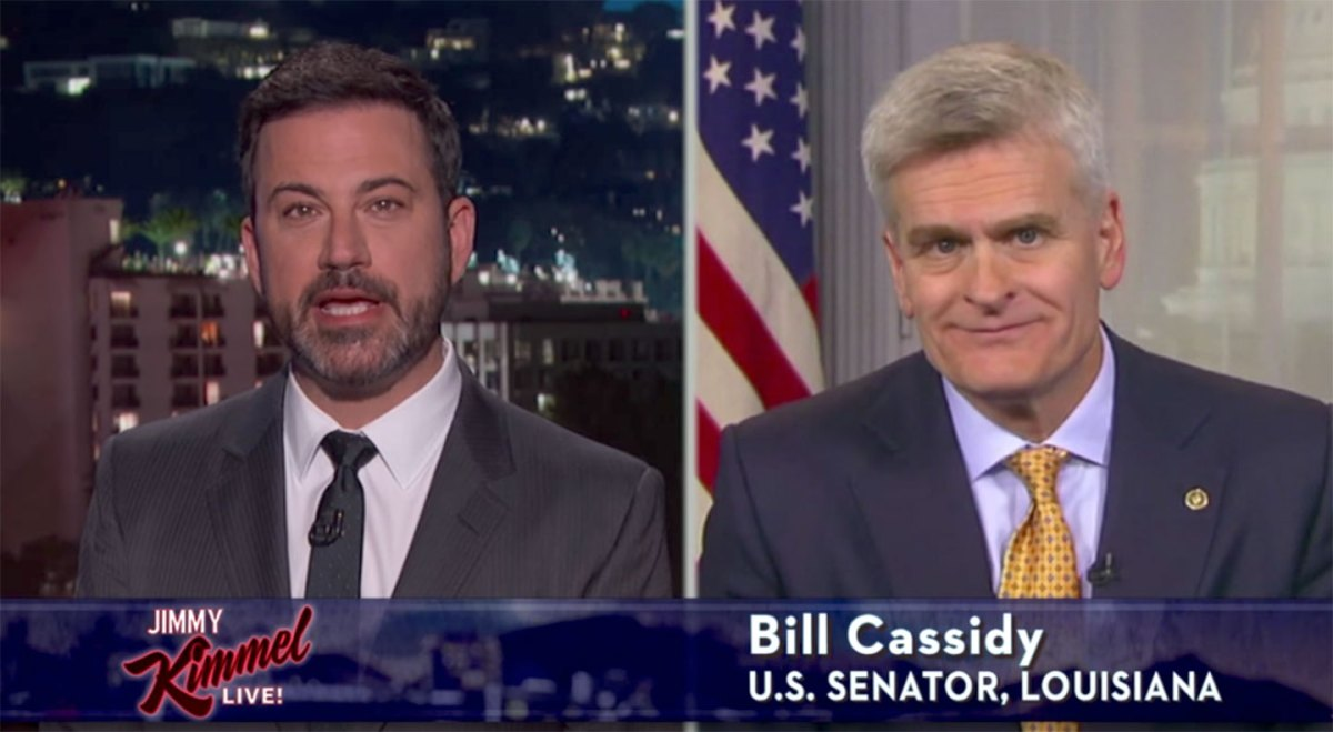 Jimmy Kimmel on Bill Cassidy's health care bill. (YouTube)