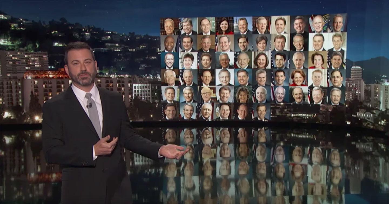 Jimmy Kimmel talks gun control after the Las Vegas mass shooting. (YouTube)