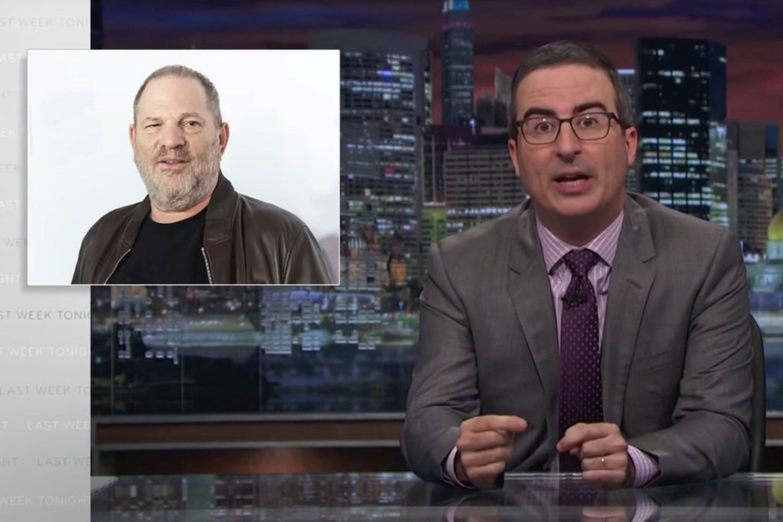 John Oliver slams Harvey Weinstein, Hollywood. (Screengrab/HBO/YouTube)