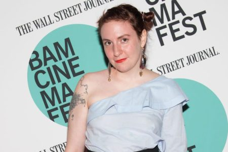 """Actress Lena Dunham attends the BAMcinemaFest 2017 screening of """"Landline"""" at BAM Harvey Theater on June 17, 2017 in New York City.  (Photo by Noam Galai/WireImage)"""