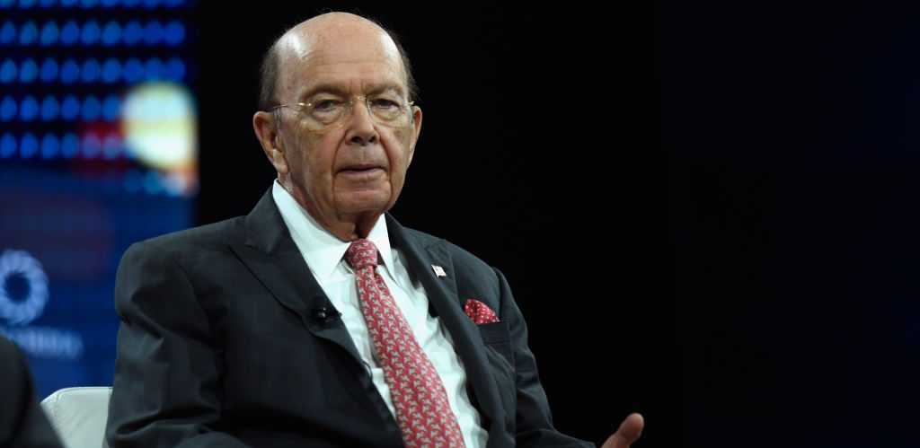Hon. Wilbur L. Ross, Jr., Secretary, US Department of Commerce speaks at The 2017 Concordia Annual Summit at Grand Hyatt New York on September 19, 2017 in New York City.  (Photo by Riccardo Savi/Getty Images for Concordia Summit)