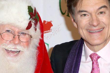 Santa Claus and Dr. Oz at 86th Annual Hollywood Christmas Parade. (David Livingston/Getty Images)