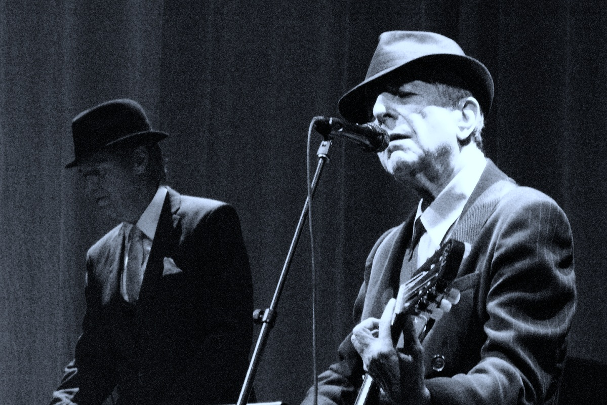 Leonard Cohen at the Arena in Geneva, 27 October 2008. He was one of the Chelsea Hotel's most famous residents, and wrote a song about the affair he had with Janis Joplin there. (Wikipedia)