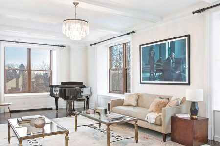Inside Bruce Willis' Central Park West apartment. Photos courtesy of Douglas Elliman.