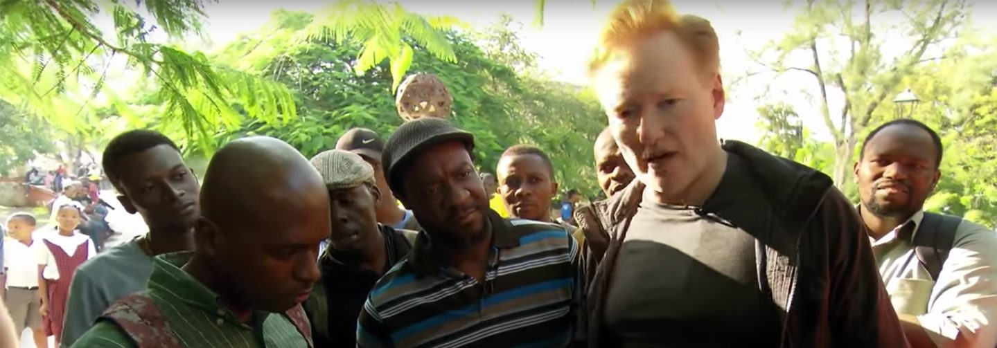 Conan O'Brien Gets Rough Reception in Haiti Over Trump